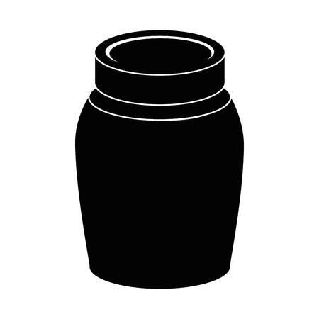 Bocal en verre isolé icône du design d & # 39 ; illustration vectorielle Banque d'images - 88829066