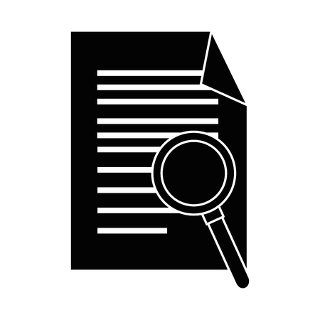 document with magnifying glass isolated icon vector illustration design