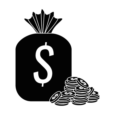 money bag with coins icon vector illustration design Stock Vector - 88844862