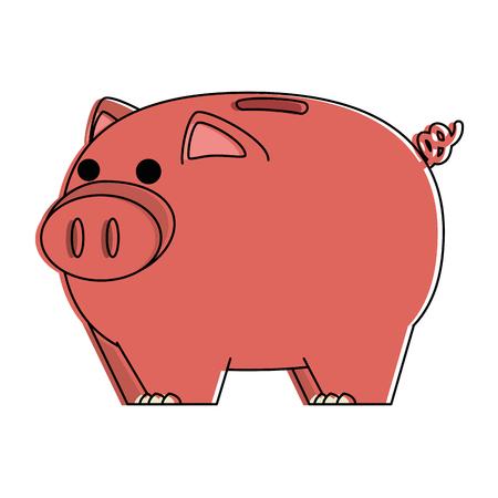 piggy bank savings isolated icon vector illustration design Ilustracja