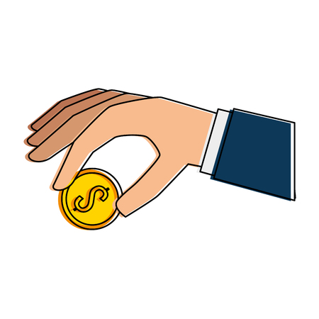 hand with coin icon vector illustration design Reklamní fotografie - 88839132