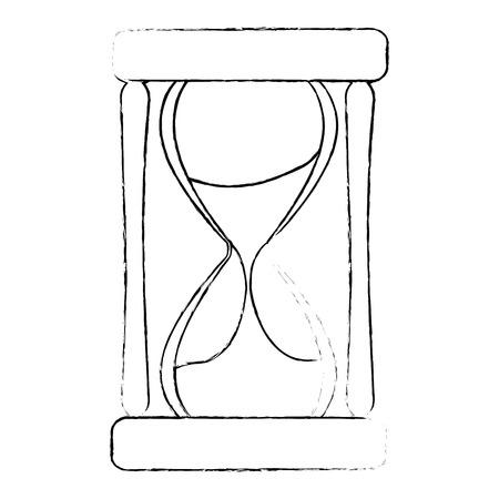 Tempo clessidra isolato icona illustrazione vettoriale design Archivio Fotografico - 88839141