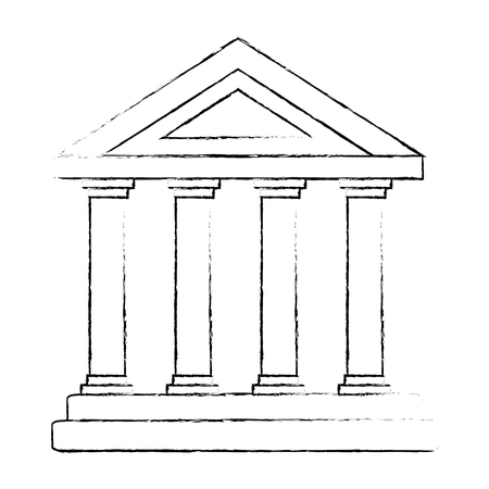 building with columns icon vector illustration design Ilustrace