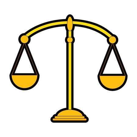 Balansschaal geïsoleerde pictogram vector illustratie ontwerp