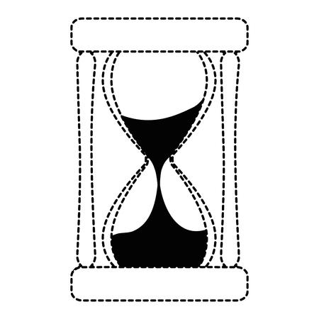 시간 모래 시계 격리 아이콘 벡터 일러스트 디자인 일러스트
