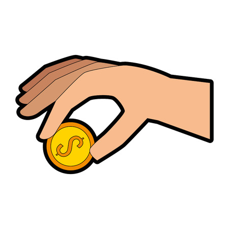 hand with coin icon vector illustration design Reklamní fotografie - 88884994