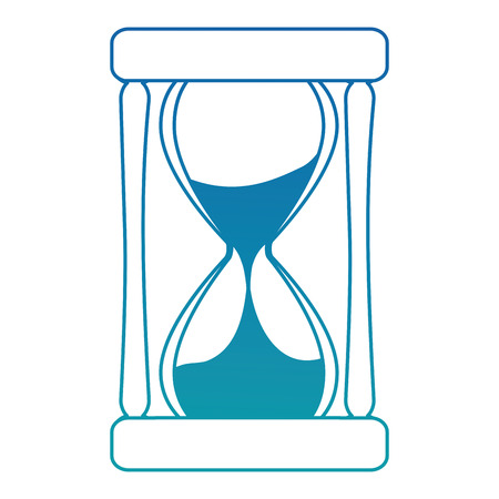 tijd zandloper geïsoleerd pictogram vector illustratie ontwerp