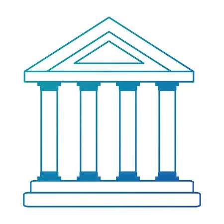 building with columns icon vector illustration design Ilustração