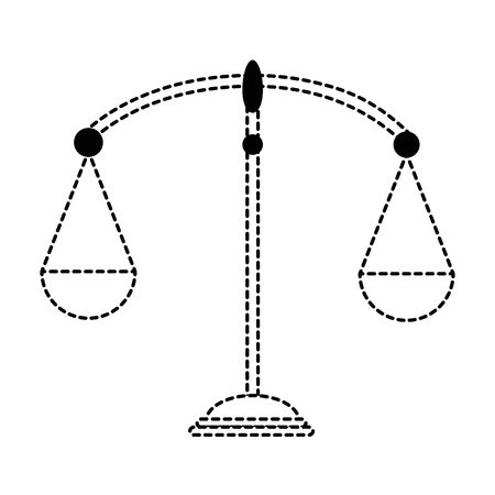 balance scale isolated icon vector illustration design