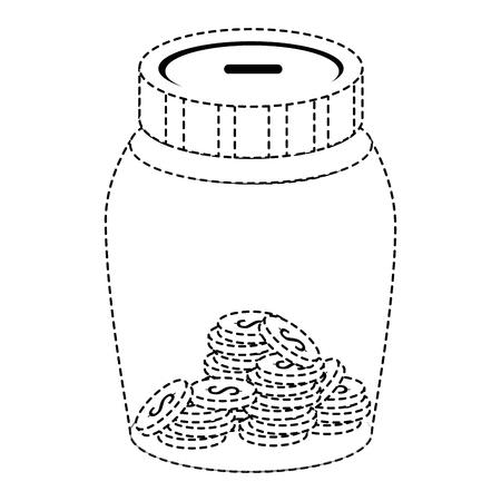 glass jar with money vector illustration design