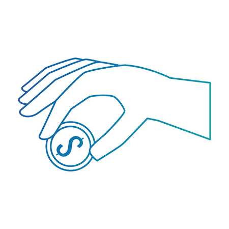 hand with coin icon vector illustration design Stock Vector - 88888490