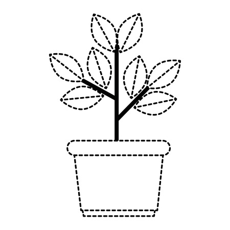house plant in pot vector illustration design Иллюстрация