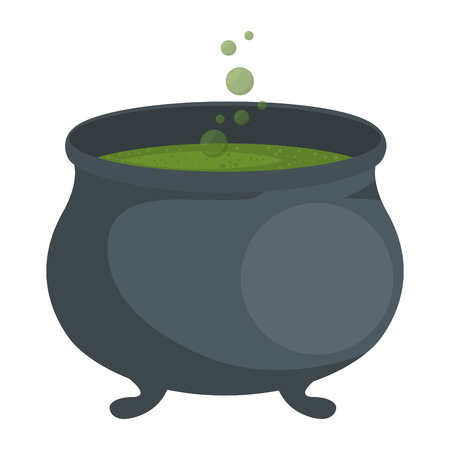 witch boiler isolated icon vector illustration design