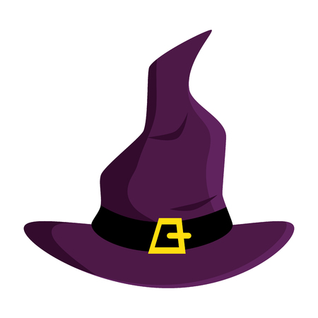 witch hat isolated icon vector illustration design 向量圖像