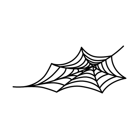 spiderweb halloween decoratieve pictogram vector illustratie ontwerp