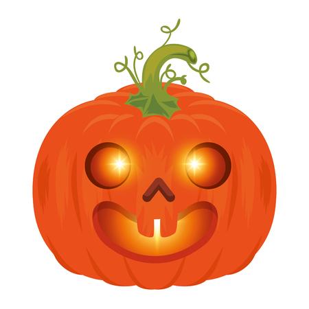 pumpkin halloween decorative icon vector illustration design