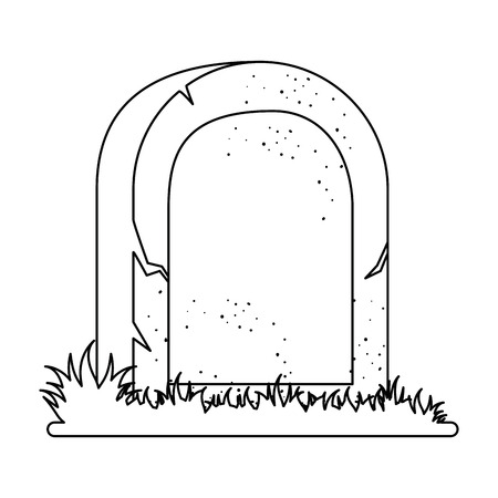 tomba della progettazione morta dell'illustrazione di vettore dell'icona Vettoriali