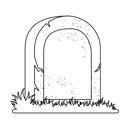 Tombe de dead icône illustration vectorielle conception Banque d'images - 88887597