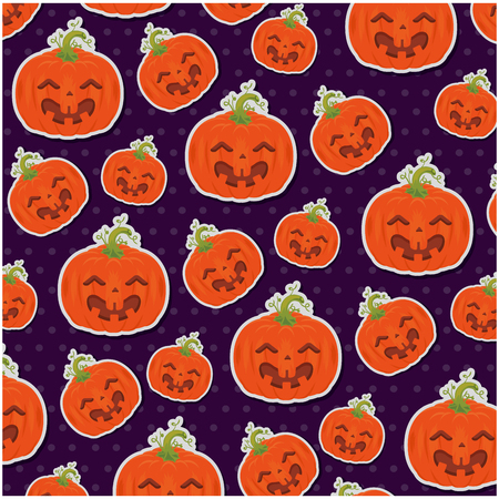pumpkin hallooween pattern background vector illustration design Illustration