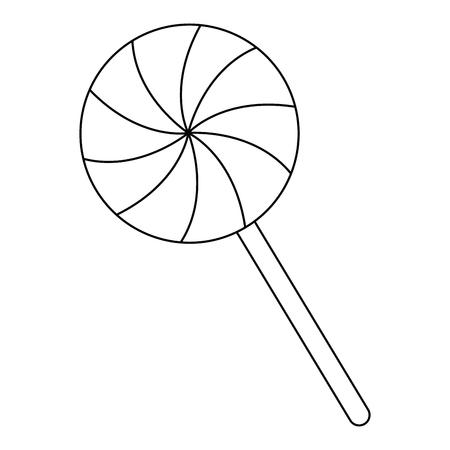 甘いお菓子ハロウィン アイコン ベクトル イラスト デザイン  イラスト・ベクター素材