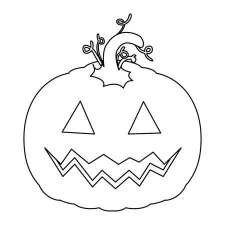 pumpkin hallooween decorative icon vector illustration design Stock Vector - 88888853