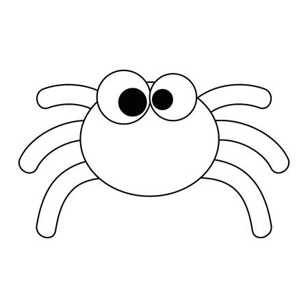 cute spider halloween decoration vector illustration design 向量圖像