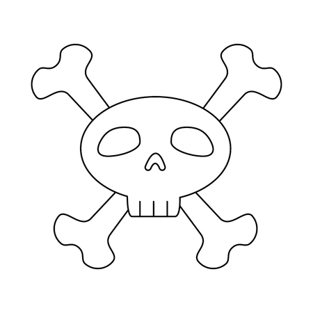 funny skull with bones crossed vector illustration design Stock Vector - 88888877