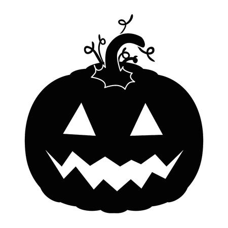 pumpkin hallooween decorative icon vector illustration design Stock Vector - 88889144