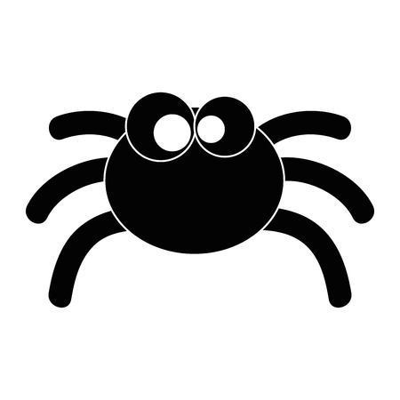 cute spider halloween decoration vector illustration design Иллюстрация