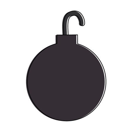shackle ball isolated icon vector illustration design Ilustrace