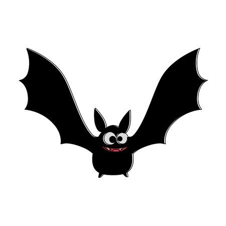 뱀파이어 검은 비행 아이콘 벡터 일러스트 레이 션 디자인
