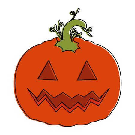 pumpkin hallooween decorative icon vector illustration design Stock Vector - 88889263