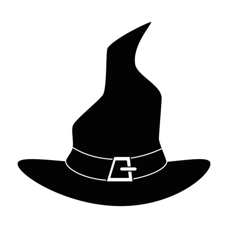 witch hat isolated icon vector illustration design Stock Vector - 88889307