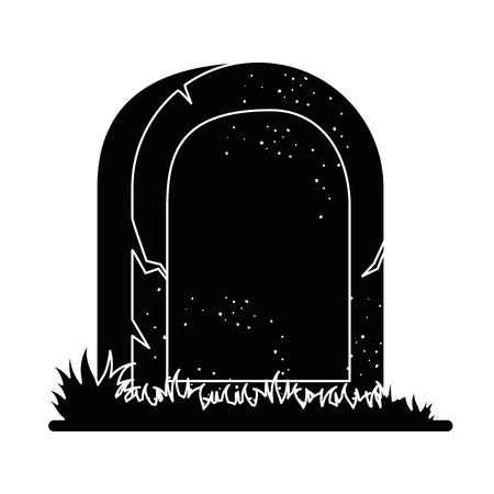 tomba della progettazione morta dell'illustrazione di vettore dell'icona