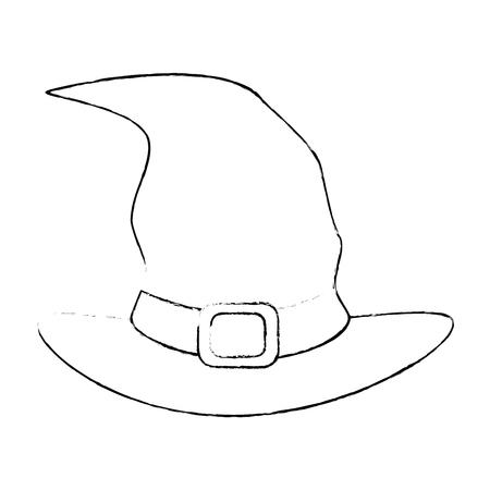 witch hat isolated icon vector illustration design Ilustração