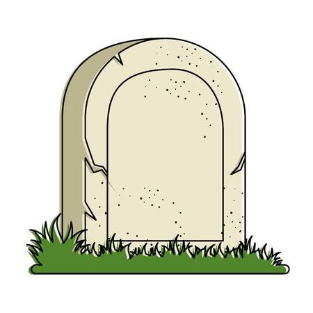 grave of dead icon vector illustration design