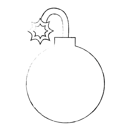 Beugel bal geïsoleerd pictogram vector illustratie ontwerp Stockfoto - 88889287