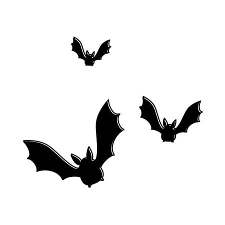 vampires black flying icon vector illustration design