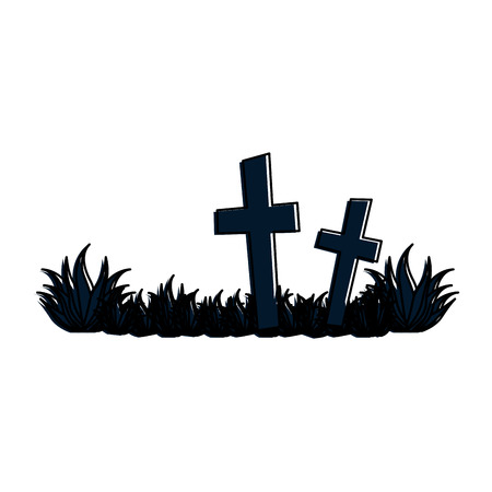 cemetery scene isolated icon vector illustration design Reklamní fotografie - 88889327