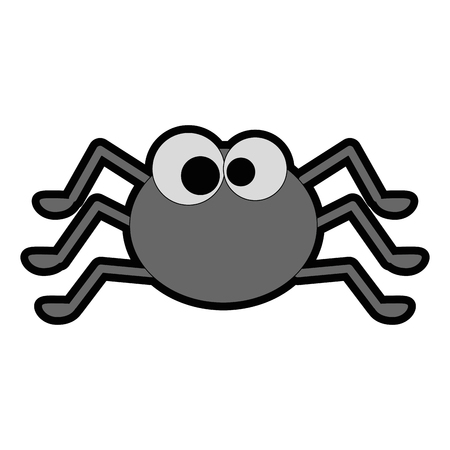 cute spider halloween decoration vector illustration design Ilustração