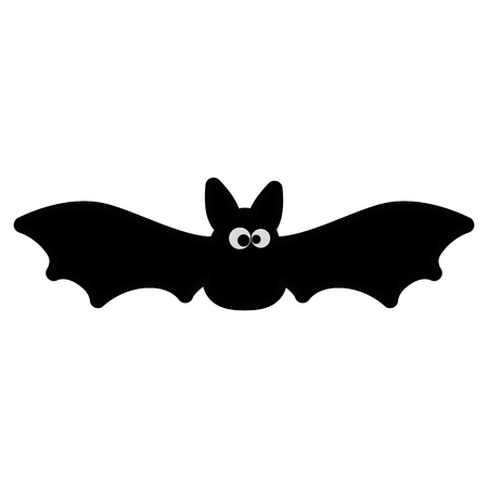 vampire black flying icon vector illustration design