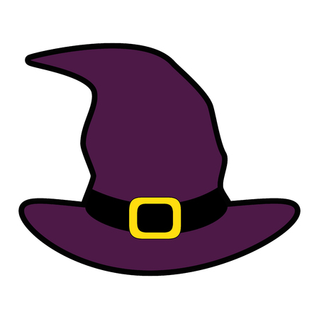 witch hat isolated icon vector illustration design Illustration