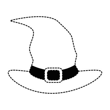 마녀 모자 격리 된 아이콘 벡터 일러스트 레이 션 디자인 일러스트