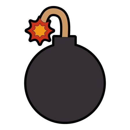Vektor-Illustrationsdesign des Booms explosive lokalisiertes Ikonenvektor Standard-Bild - 88889522