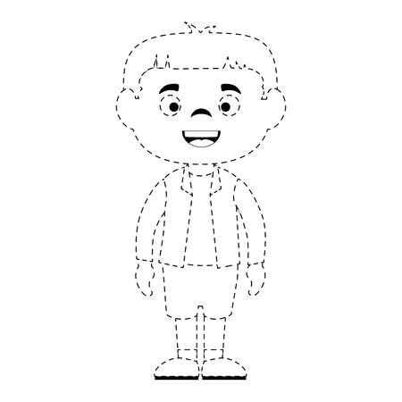 little boy disguised vector illustration design Illustration