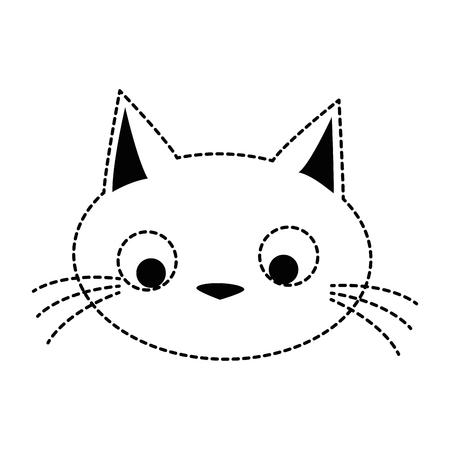 funny cute cat head vector illustration design Illustration