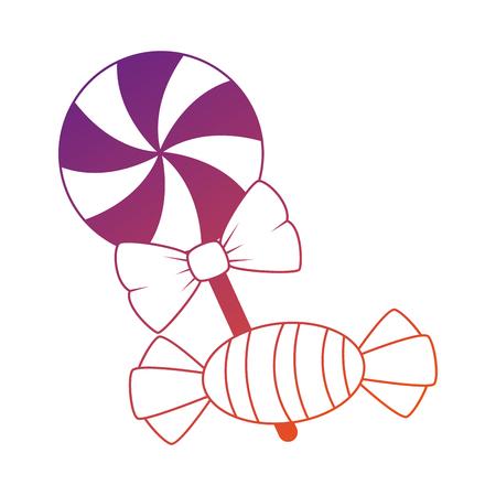 달콤한 사탕 할로윈 아이콘 벡터 일러스트 레이 션 디자인