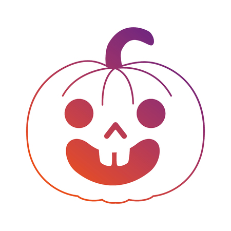 pumpkin hallooween decorative icon vector illustration design