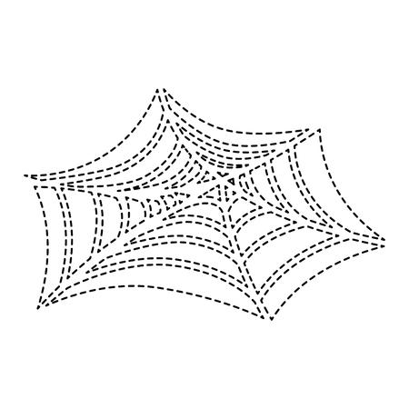 Spiderweb halloween decoration icon vector illustration design Foto de archivo - 88889687