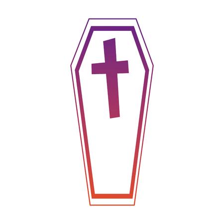 doodskist halloween decoratieve pictogram vector illustratie ontwerp Stock Illustratie